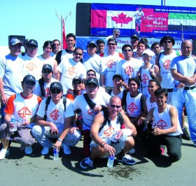 AFG Employees Participat at the annual Terry Fox rung for Cancer Reach